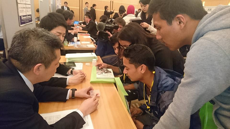福井県初の外国人留学生と県内企業の合同企業説明会に参加しました